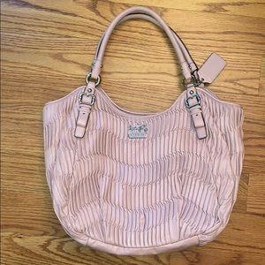 Pink Coach Shoulder Bag